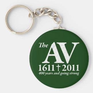 AV Still Going Strong in white distressed Keychain
