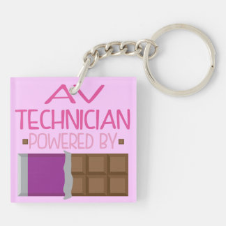 AV Technician Chocolate Gift for Woman Square Acrylic Key Chain
