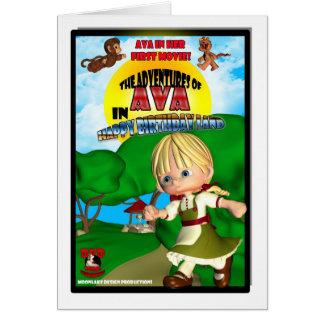 Ava Birthday Card DVD box spoof