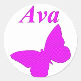 Ava Classic Round Sticker