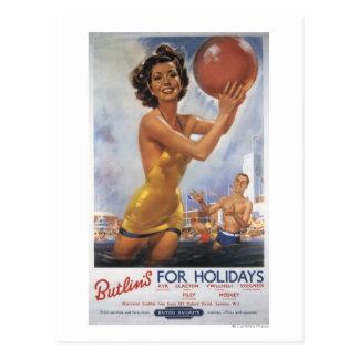 Ava Gardner Look-a-like Butlin's Camps Postcard