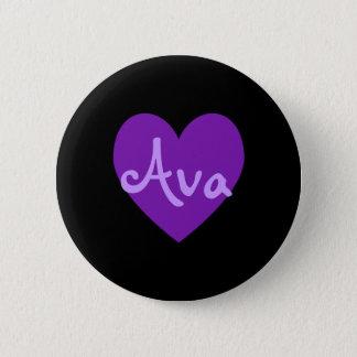 Ava in Purple 6 Cm Round Badge