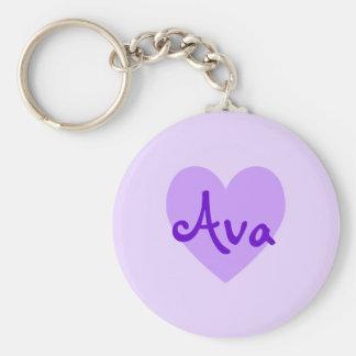 Ava in Purple Keychain