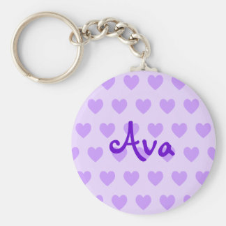 Ava in Purple Key Ring