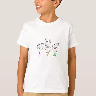 AVA NAME ASL FINGERSPELLED SIGN T-Shirt