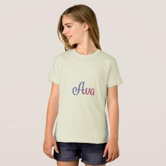 Ava Stylish Cursive T-Shirt
