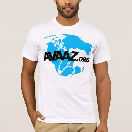 Avaaz.org Black Logo and Pangea Front T-Shirt