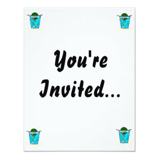 avacado abstract pit growing in water 11 cm x 14 cm invitation card