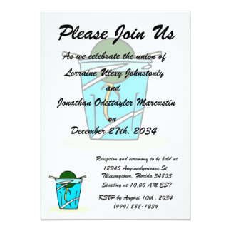 avacado abstract pit growing in water 13 cm x 18 cm invitation card