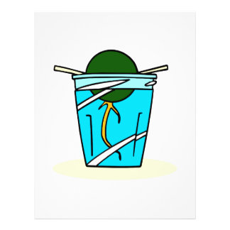 avacado abstract pit growing in water custom flyer