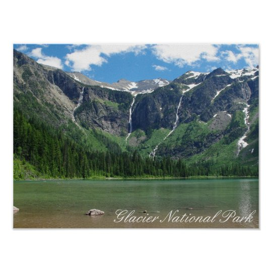 Avalanche Lake Glacier National Park Poster