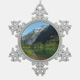 Avalanche Lake II in Glacier National Park Pewter Snowflake Decoration
