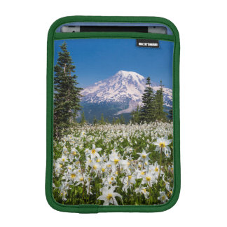 Avalanche lilies and Mount Rainier 2 iPad Mini Sleeve