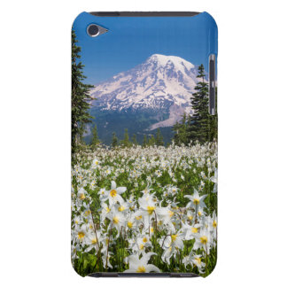 Avalanche lilies and Mount Rainier 2 iPod Touch Case