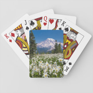 Avalanche lilies and Mount Rainier 2 Playing Cards