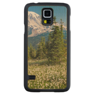 Avalanche lilies and Mount Rainier Carved Maple Galaxy S5 Case
