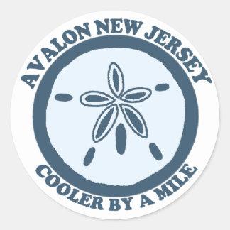 Avalon. Classic Round Sticker