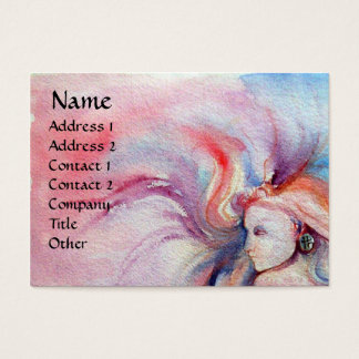 AVALON / Magic and Mystery Pink Blue Fantasy Business Card