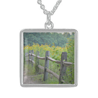 Avalon Meadows Square Pendant Necklace