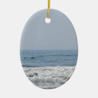Avalon NJ beach Christmas Ornament