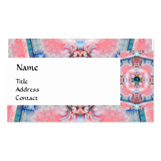 AVALON PSYCHEDELIC MONOGRAM blue Business Card Templates