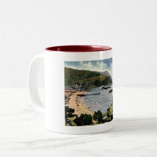 Avalon, Santa Catalina, California Vintage Two-Tone Coffee Mug