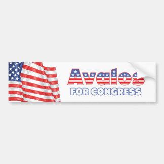 Avalos for Congress Patriotic American Flag Design Bumper Sticker