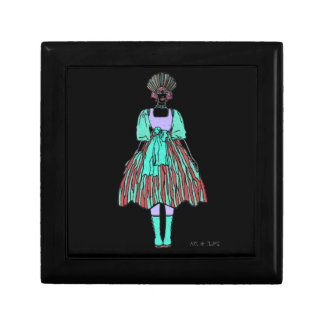 Avant-garde green and red party dress jewelry box