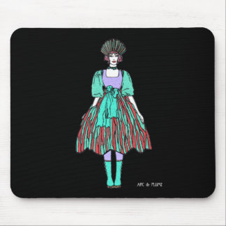 Avant-garde green and red party dress mousepads
