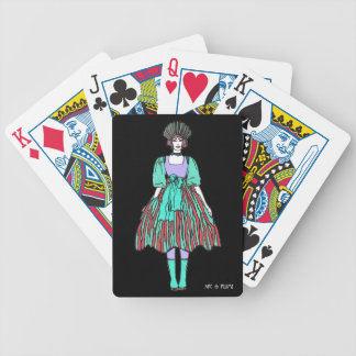 Avant-garde green and red party dress card deck