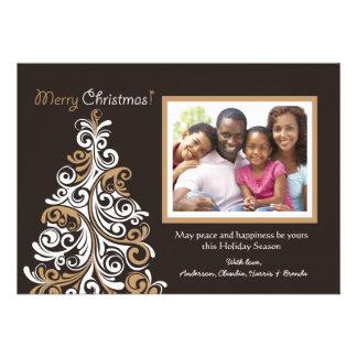 Avant-Garde Tree Holiday Photo Card