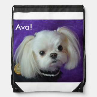 Ava's Backpack! Drawstring Bag