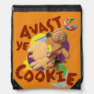 Avast Ye Cookie Drawstring Bag