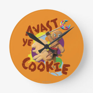 Avast Ye Cookie Round Clock