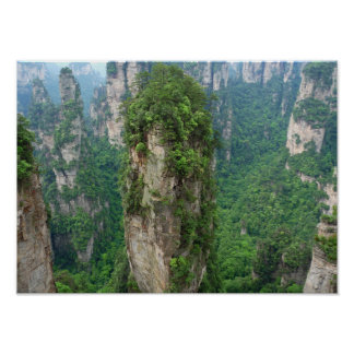 Avatar Mountains Zhangjiajie National Forest Park Poster