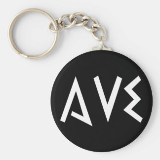 Ave Basic Round Button Key Ring