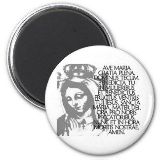 Ave Maria 6 Cm Round Magnet