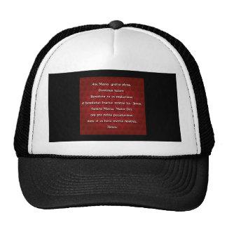 Ave Maria Hail Mary in Latin Hats