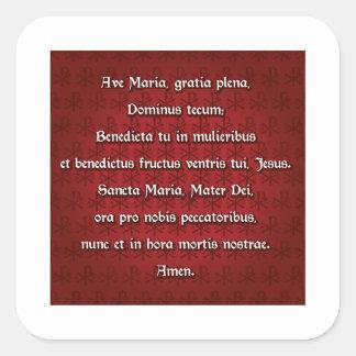 Ave Maria Hail Mary in Latin Stickers