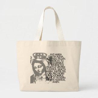 Ave Maria Large Tote Bag