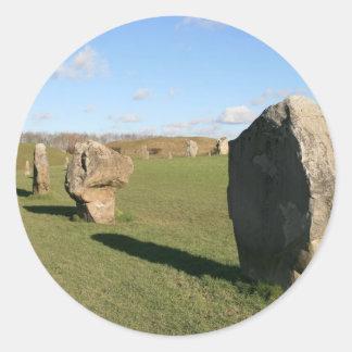 Avebury Stones Round Sticker