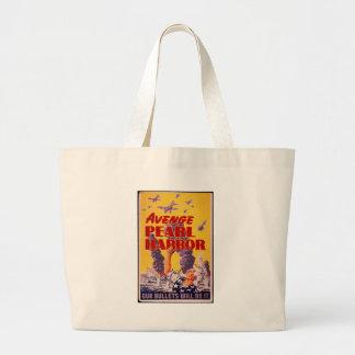 Avenge Pearl Harbor Large Tote Bag