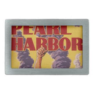 Avenge Pearl Harbor Rectangular Belt Buckle
