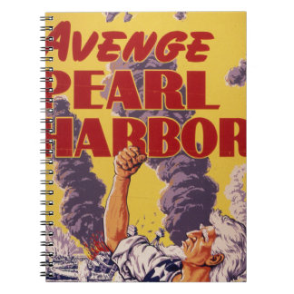 Avenge Pearl Harbor Spiral Notebook