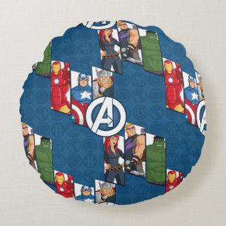 Avengers Assemble Characters Kid Pattern Round Cushion