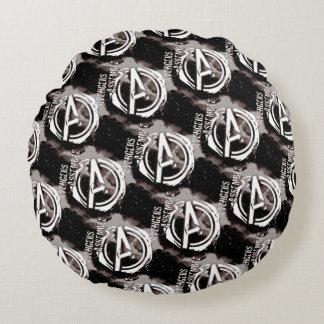 Avengers Assemble Grunge Pattern Round Cushion