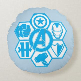 Avengers Assemble Icon Badge Round Cushion