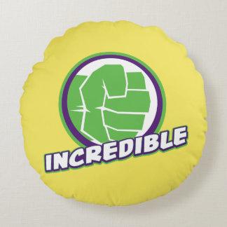 Avengers Assemble Incredible Hulk Logo Round Cushion