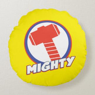 Avengers Assemble Mighty Thor Logo Round Cushion