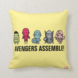 Avengers Assemble - Stylized Line Art Cushion